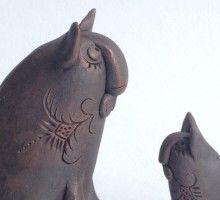 Мастер-класс «Котейка – свистулька из глины»