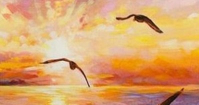 Мастер-класс по созданию картины «Море на закате»