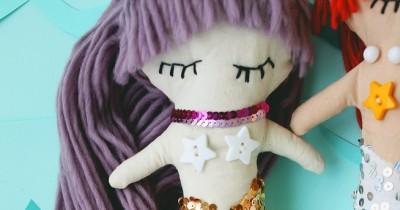 Мастер-класс «Тряпичная Кукла-Русалка»