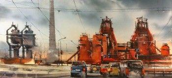 «Как закалялась сталь»: екатеринбургский художник запечатлел завод-музей в Нижнем Тагиле в акварели
