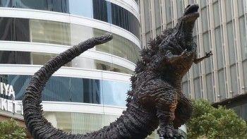 Памятник Годзилле установили в Токио