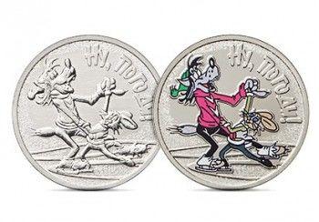 Банк России выпустил монеты с изображением главных героев мультфильма «Ну, погоди!»