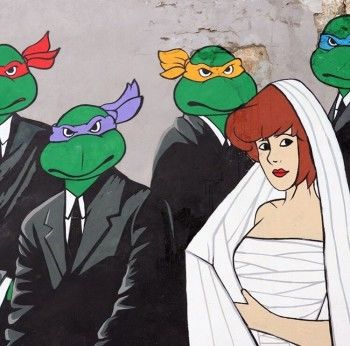 Герои сериала «Бригада» стали черепашками-ниндзя на граффити Славы Птрк