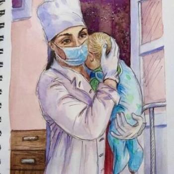 Медик из Нижнего Тагила стала героиней российского арт-проекта в поддержку работающих во время пандемии специалистов