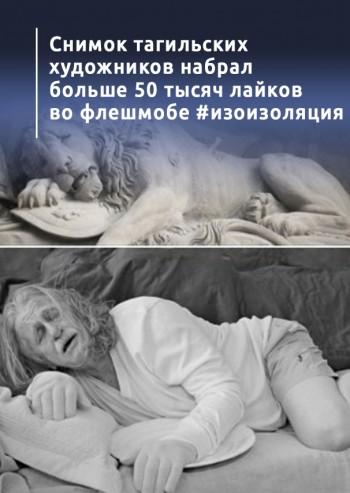 Снимок тагильских художников набрал больше 50 тысяч лайков во всероссийском флешмобе #изоизоляция