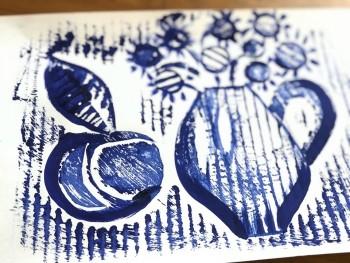 Идея для творчества: мастер-класс от тагильской художницы по созданию гравюры на бумаге