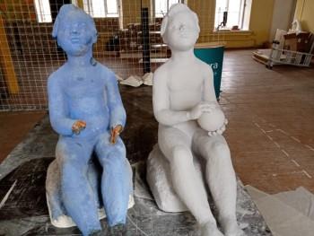 Парк советской скульптуры пополнится фигурой мальчика с мячом