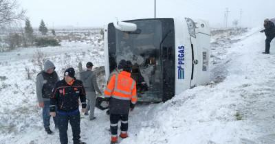 В Турции перевернулся автобус с российскими туристами. Один человек погиб