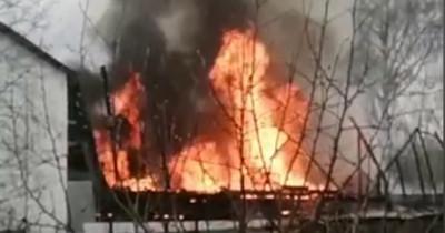В Нижнем Тагиле сгорел дотла частный дом (ВИДЕО)