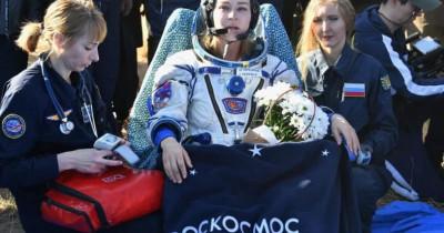 Актриса Юлия Пересильд и режиссёр Клим Шипенко вернулись на Землю после первых в истории съёмок фильма на МКС