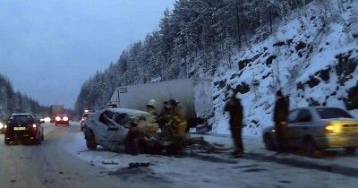 На Серовском тракте под Нижним Тагилом в ДТП погибли два человека
