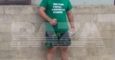 ВМоскве уздания Минстроя мужчина облился бензином и угрожал поджечь себя (ВИДЕО)