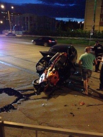В Нижнем Тагиле Lada Priora сбила мотоциклиста