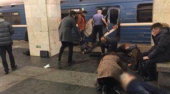 В вагоне метро Санкт-Петербурга произошёл взрыв