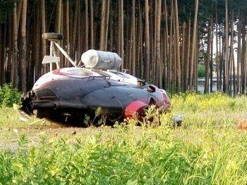 В Екатеринбурге рухнул медицинский вертолёт (ВИДЕО, ФОТО)