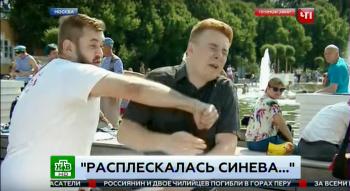 Пьяный десантник избил журналиста НТВ в прямом эфире (ВИДЕО)