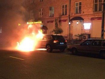В Москве сожгли машину лидера Всероссийского объединения болельщиков (ВИДЕО)