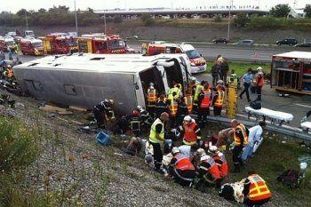 49 человек погибли во Франции при столкновении автобуса и грузовика