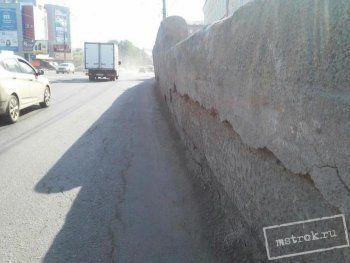 После публикации АН «Между строк» чиновники нашли 4,5 млн рублей на ремонт падающей стены на главном проспекте Нижнего Тагила