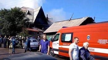 В Красноярске загорелся дом престарелых. Погибли четыре человека (ВИДЕО)