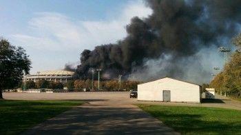 В Москве загорелся стадион «Лужники» (ВИДЕО)