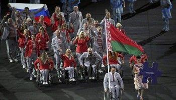 Спортсмены сборной Белоруссии пронесли российский флаг на открытии Паралимпиады в Рио