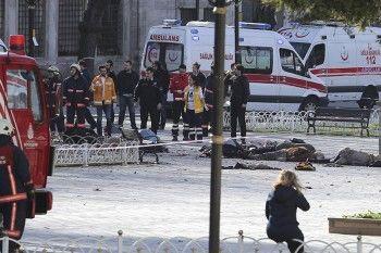 Жертвами взрыва в центре Стамбула стали 10 человек