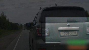 Тагильчанин уличил внедорожник Сергея Носова в автохамстве (ВИДЕО)
