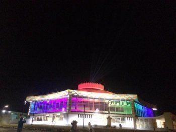 Ночью в Нижнем Тагиле протестировали внешнее освещение цирка