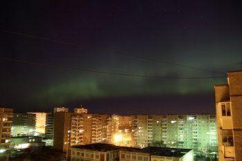 Северное сияние над Нижним Тагилом (ФОТО)