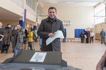 На выборах проголосовал губернатор Евгений Куйвашев