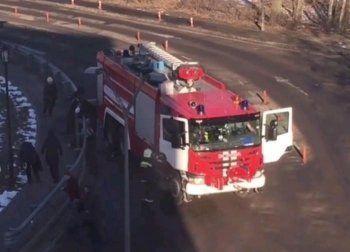 В Домодедово пожарный автомобиль сбил девять человек (ВИДЕО)