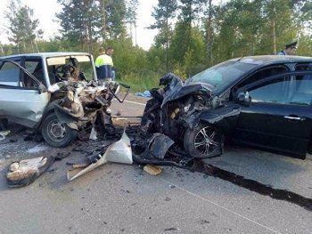 На трассе Екатеринбург – Курган в лобовом столкновении машин погибли два человека