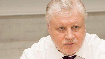 Лидер эсеров Сергей Миронов назвал Путина большим счастьем для России