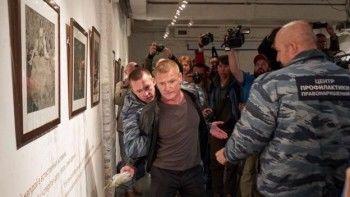 Активисту SERB дали восемь суток ареста занападение навыставку Джока Стёрджеса