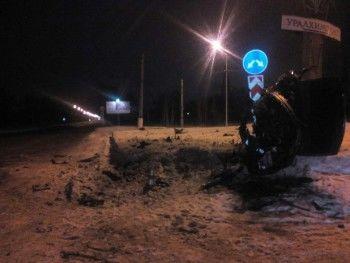 На Северном шоссе перевернулась иномарка