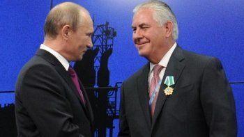 РБК: Путин встретится с госсекретарём США Тиллерсоном 12 апреля