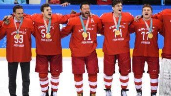 МОК отказался наказывать Россию за исполнение хоккеистами национального гимна
