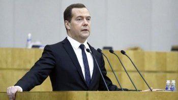 Премьер-министр  Дмитрий Медведев выступил с отчётом в Госдуме
