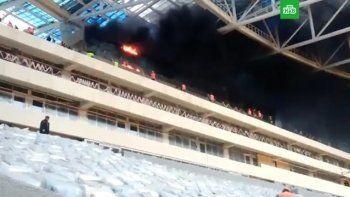 В Нижнем Новгороде загорелся строящийся к ЧМ-2018 по футболу стадион (ВИДЕО)