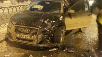 Семья главного гаишника Свердловской области попала в ДТП (ВИДЕО, ФОТО)