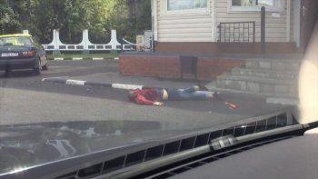 В Подмосковье неизвестные с огнестрельным оружием и топором напали на полицейских (ВИДЕО)