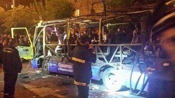 В центре Еревана взорвался автобус. Есть погибшие