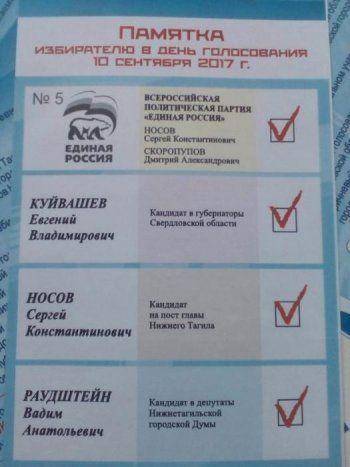 Рабочим «Уралвагонзавода» выдали именные «памятки избирателю»