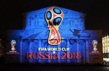 На фасаде Большого театра представили эмблему чемпионата мира по футболу 2018 года