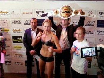 Тагильчанка завоевала самый престижный титул в профессиональном кик-боксинге