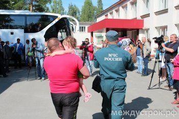 Семью беженцев, прибывших вчера в Тагил, доставили к Холманских – «БАК-анализ уже забран»