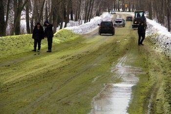 В Первоуральске выпал зелёный снег (ФОТО)