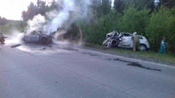 В «огненной» аварии под Качканаром погибли два человека и собака (ВИДЕО)