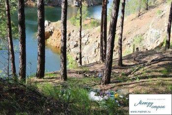Голубые озёра погрязли в мусоре